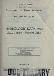 Cover of: Hydrologic data, 1973. | California. Dept. of Water Resources.