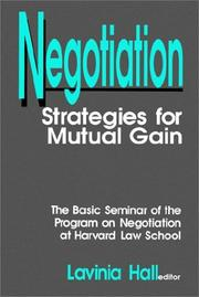 Cover of: Negotiation
