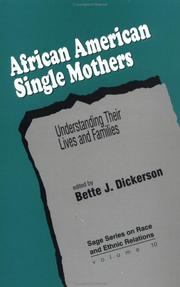 Cover of: African American Single Mothers