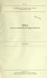 Cover of: Bills. | Ontario. Legislative Assembly.
