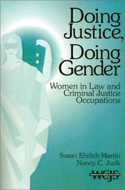 Cover of: Doing justice, doing gender