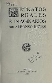 Cover of: Retratos reales e imaginarios