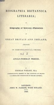 Cover of: Biographia Britannica literaria