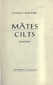 Cover of: Mātes cilts