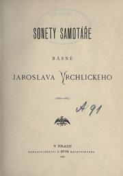 Cover of: Sonety samotáře