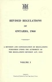 Laws, etc by Ontario.