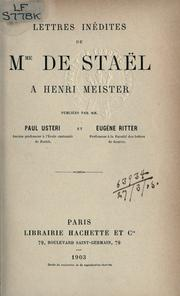 Cover of: Lettres inédites à Henri Meister