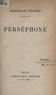 Cover of: Perséphone