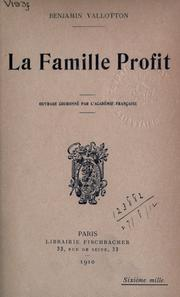 Cover of: La famille Profit