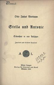 Cover of: Stella und Antonio