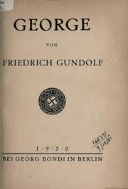 George by Friedrich Gundolf