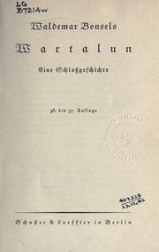 Cover of: Wartalun