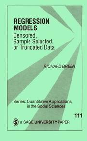 Cover of: Regression models