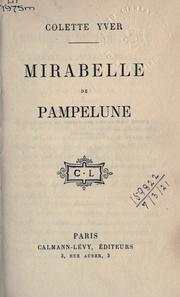 Cover of: Mirabelle de Pampelune