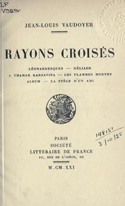 Cover of: Rayons croisés