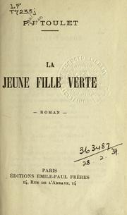 Cover of: La jeune fille verte