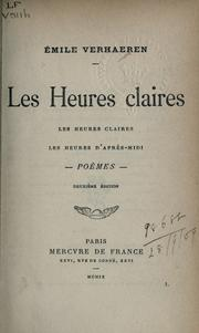 Cover of: Les heures claires
