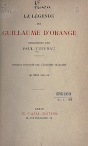 Cover of: La légende de Guillaume d'Orange