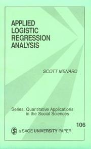 Cover of: Applied logistic regression analysis | Scott W. Menard