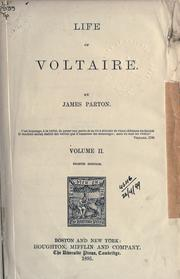 Cover of: Life of Voltaire. | James Parton