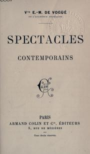 Cover of: Spectacles contemporains