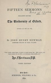 Cover of: Fifteen sermons preached before the University of Oxford: between A.D. 1826 and 1843