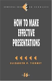 Cover of: How to make effective presentations