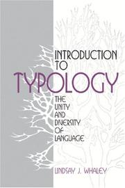 Cover of: Introduction to typology | Lindsay J. Whaley