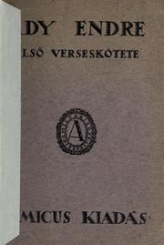 Cover of: Elsö verseskötete