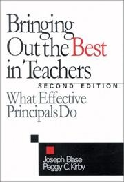 Cover of: Bringing Out the Best in Teachers | Joseph J. Blase