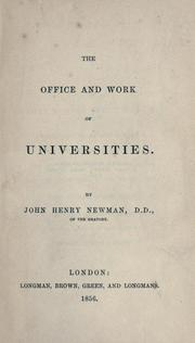 Cover of: The office and work of universities