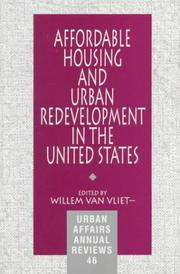 Cover of: Affordable Housing and Urban Redevelopment in the United States