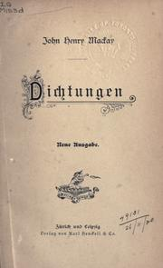 Cover of: Dichtungen