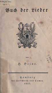 Cover of: Buch der Lieder