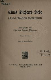 Cover of: Eines Dichters Liebe