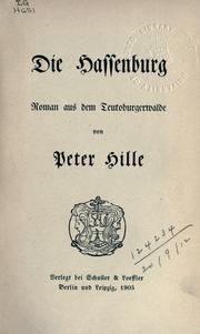 Cover of: Peter Hille