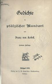 Cover of: Gedichte in psälzischer Mundart
