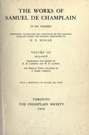 The works of Samuel de Champlain by Samuel de Champlain