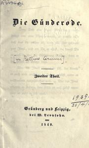 Cover of: Die Günderode