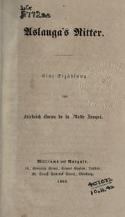 Cover of: Aslauga's Ritter