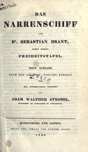 Cover of: Das Narrenschiff | Sebastian Brant