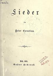 Cover of: Lieder