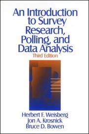 Cover of: An introduction to survey research, polling, and data analysis
