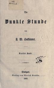 Cover of: Die dunkle Stunde