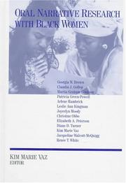Cover of: Oral Narrative Research with Black Women
