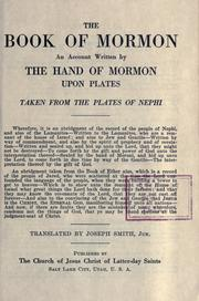Cover of: book of Mormon | Book of Mormon
