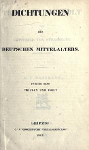 Cover of: Tristan und Isolt