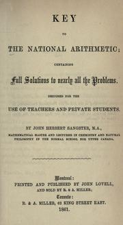 Cover of: Key to the National arithmetic | John Herbert Sangster