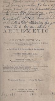 Cover of: treatise on arithmetic | J. Hamblin Smith