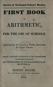 Cover of: First book of arithmetic for the use of schools |